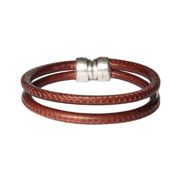 """Bracelet cuir homme cordon surpiqué """"Johor"""""""