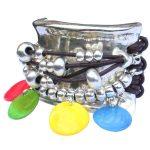 """Bracelet cuir femme manchette cuir multiliens """"Ibiza"""" 2"""