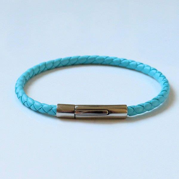 Bracelet homme cuir et turquoise