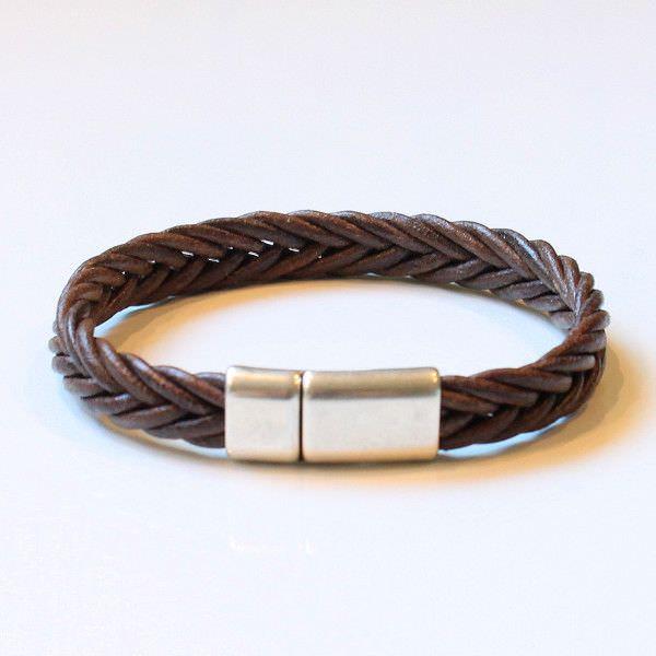 Bracelet lien en cuir homme