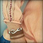 Bracelet cuir femme 5 tours marron fermoir hameçon crochet 2