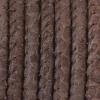 Bracelet  - Cordon cuir reptile surpiqué - 5mm - Marron Foncé