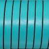 Bracelet enfant - cuir plat - Bleu mer du sud