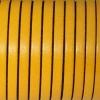 Bracelet enfant - cuir plat - Jaune moutarde