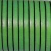 Bracelet enfant - cuir plat - Vert prairie