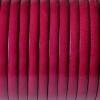 Bracelet enfant - cuir plat - Framboise