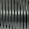Bracelet enfant - cuir plat - Gris anthracite