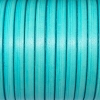 Bracelet enfant - cuir plat - Turquoise
