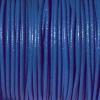 Bracelet femme - cordon cuir - Bleu-roi