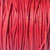 Bracelet femme - cordon cuir - Vieux-rouge