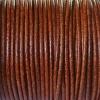 Bracelet femme - cordon cuir - Tabac