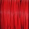 Bracelet femme - cordon cuir - Rouge-Corail