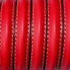 Bracelet  - cuir-media-cana - Rouge profond