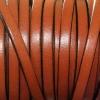 Bracelet femme - cuir plat - Marron clair