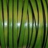 Bracelet femme - cuir plat - Vert boisé