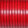 Bracelet femme - modèle cuir Marguerite - Rouge profond