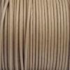Bracelet homme - cordon cuir- 2mm - Taupe clair