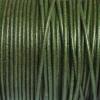 Bracelet homme - cordon cuir- 2mm - Vert kaki
