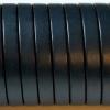 bracelet cuir homme - 10-mm - Bleu gris fonce