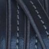 Bracelet homme - cuir gris surpiqué gris