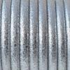 Bracelet - cordon cuir 5 mm- Argenté