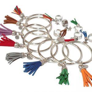 Collection Pompon bracelet jonc et bague plaqué argent