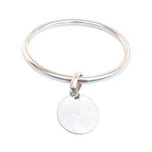Bracelet femme jonc pendentif médaille