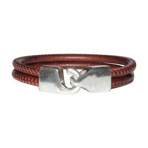"""Bracelet cuir homme cordon surpique """"Nolan"""""""