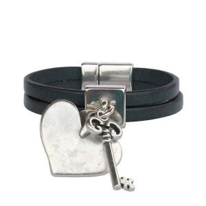 "Bracelet enfant fille cuir ""Secret"""