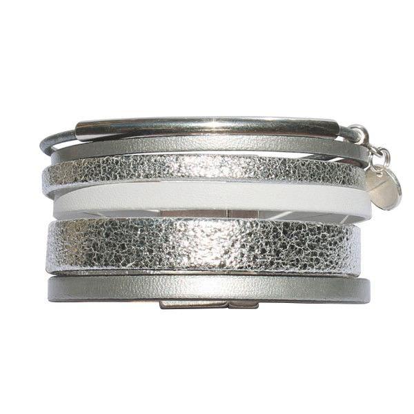 bracelet femme cuir argent