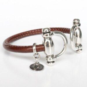 bracelet femme cuir jonc équestre mors cheval