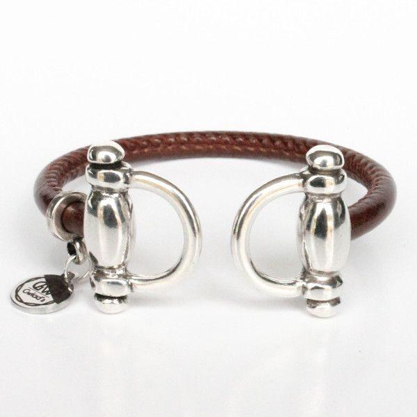 bracelet cuir femme jonc équestre mors cheval