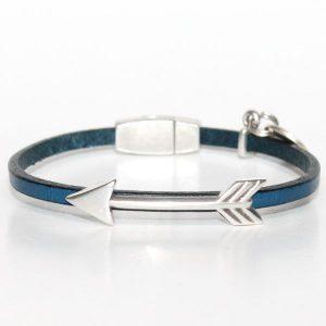 """Bracelet bijou enfant fille cuir fermoir aimanté """"Flèche"""" 1"""