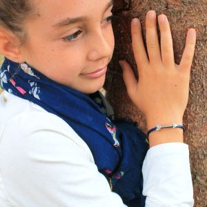 """Bracelet bijou enfant fille cuir fermoir aimanté """"Flèche"""" 2"""
