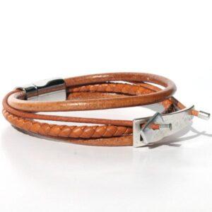 bracelet bijoux homme cuir cadeau original multi liens 2