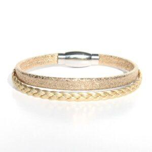 bijoux enfant bracelet cuir fille Gold doré 1