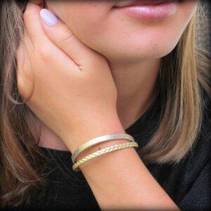 bijoux enfant bracelet cuir fille Gold doré 4