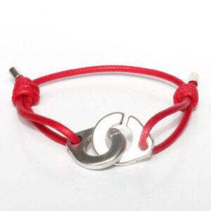 bracelet menottes enfant ado garçon fille menotte cordon coton ciré 1