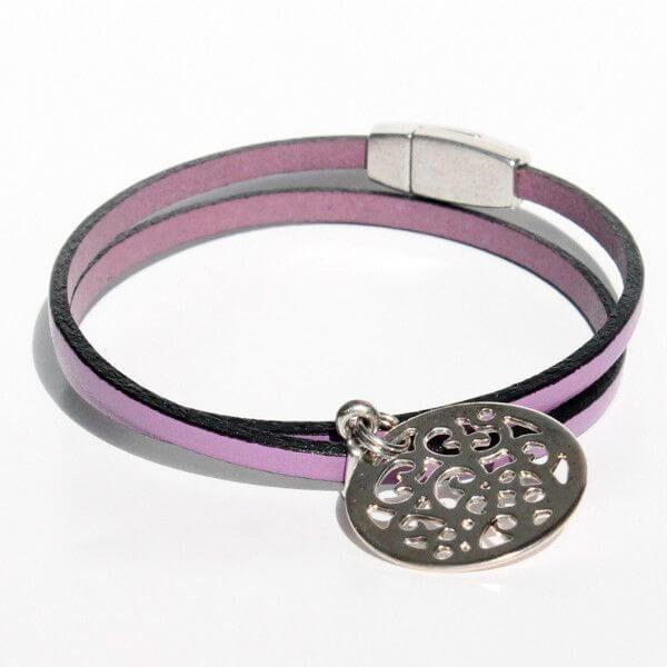 bijoux enfant bracelet fille cuir médaille arabesque 1