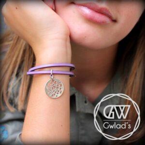 bijoux enfant bracelet fille cuir médaille arabesque 2