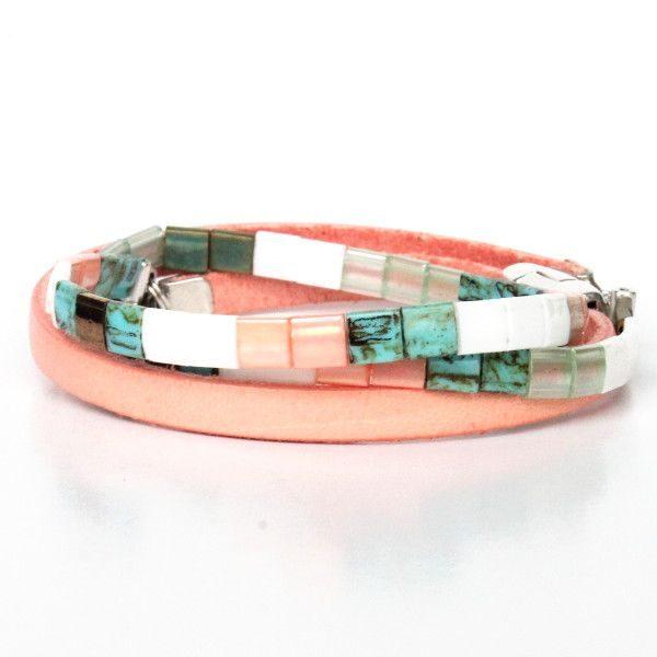 bracelet perles Miyuki Tila verre du japon perle carrée