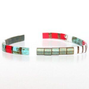 bracelet perles tendance 2021 miyuki tila verre du Japon-coloré tendance 1