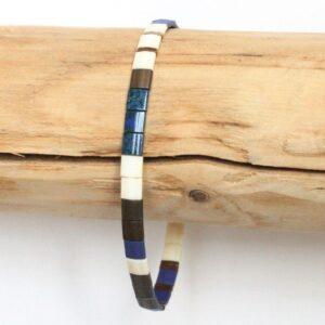 Bracelet en perles pour homme tendance miyuki verre du Japon coloré tendance bleu 2