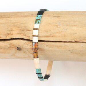 Bracelet tendance 2021 perles colorées carrées Miyuki tila élastique 2