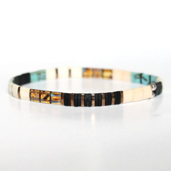 Bracelet tendance 2021 perles colorées carrées Miyuki tila élastique 1