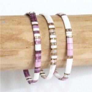 Bracelet perles fantaisie femme bijoux tendance coloré brillant été 4