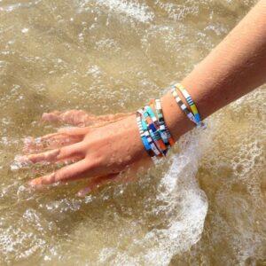 Bracelet perles tendance colorée femme miyuki